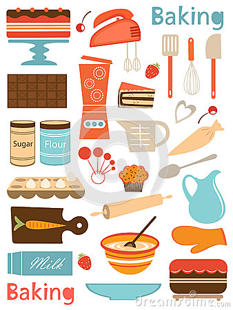 Free Colorful Baking Icons Composition Royalty Free Stock Photography - 31940847