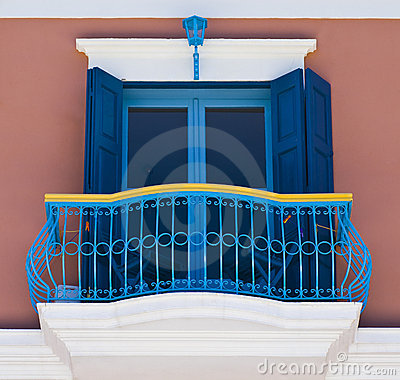 Colorful Balcony Stock Photo Image 10606000