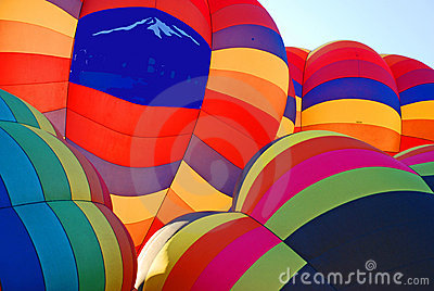 Colorful Balloon Cluster
