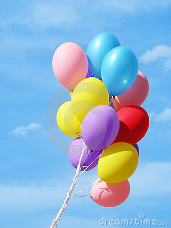 Free Colorful Balloons Against Sky Stock Photography - 795752