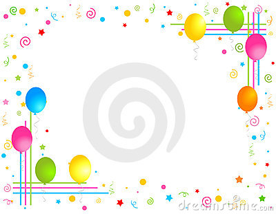Colorful Balloons border / Party frame