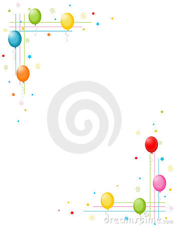 Free Colorful Balloons Border / Party Frame Stock Image - 3976391