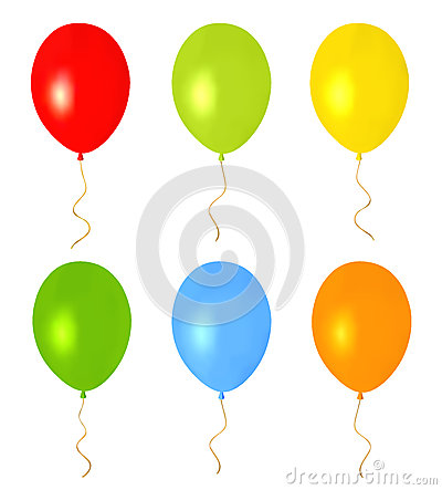 Colorful Balloons for holidays. Isolated vector