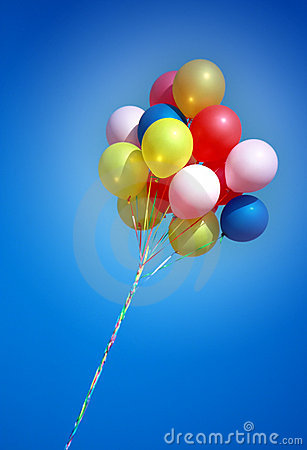 Free Colorful Balloons In Blue Sky Royalty Free Stock Images - 10941319