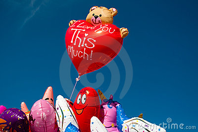 Colorful balloons sold at a funfair Editorial Image