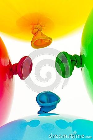 Colorful balloons. Symbol of lightness, freedom,