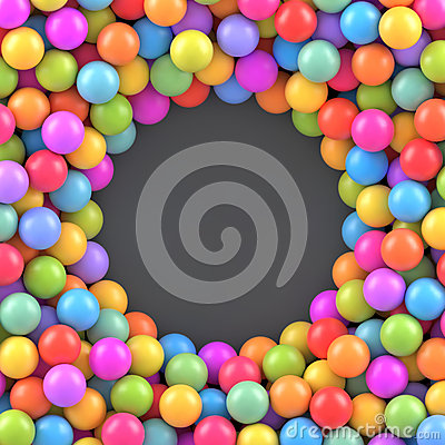 Free Colorful Balls Background With Place For Your Content Stock Photo - 72754400
