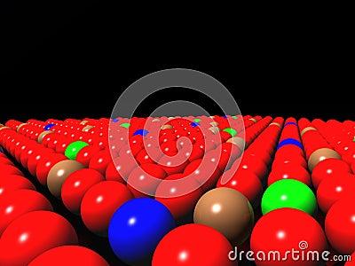 Colorful balls on black background, diversity