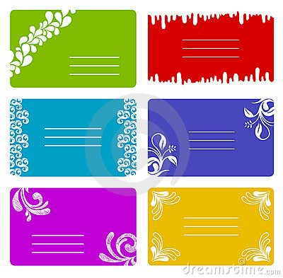 Colorful banners set