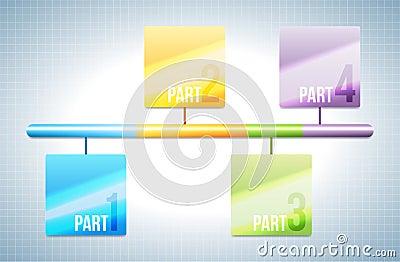 Colorful Bar Design Element