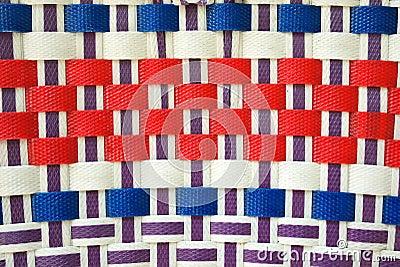 Colorful basket weave pattern