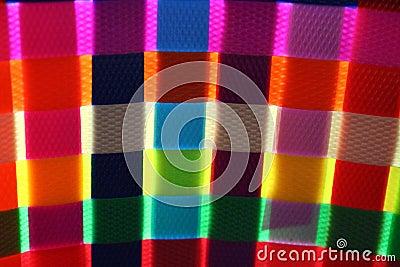 Colorful basket weaving glow