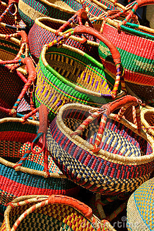 Free Colorful Baskets Stock Photography - 21079062