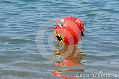 A colorful beach ball