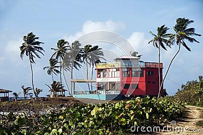 Colorful beach house hotel corn island nicaragua