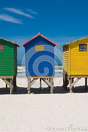 Colorful beach hut