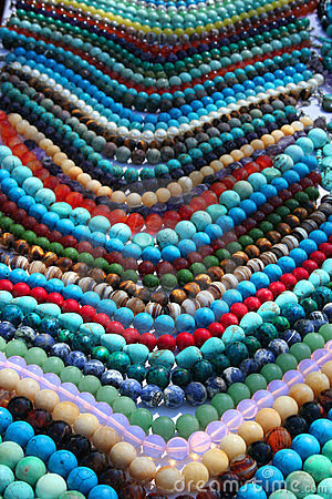 Free Colorful Beads Background Stock Photos - 12681093