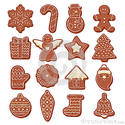 Free Colorful Beautiful Christmas Cookies Icons Set Royalty Free Stock Photo - 63009055
