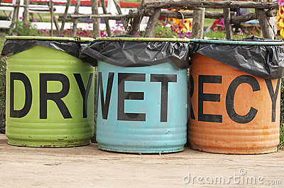Colorful bin