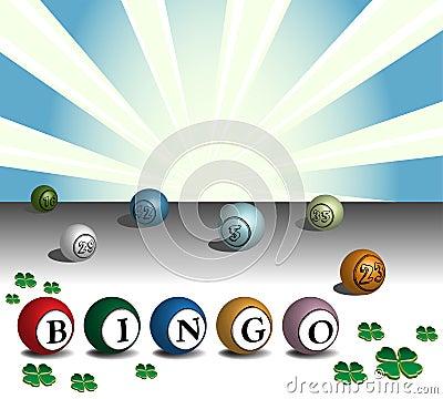 Colorful bingo balls