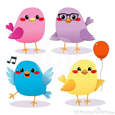 Free Colorful Bird Party Royalty Free Stock Images - 24361719