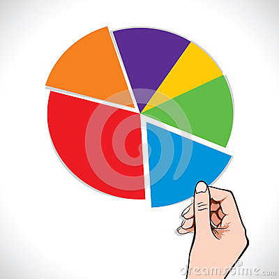 Colorful blank chart in hand stock