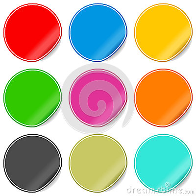 Colorful Blank Stickers Set
