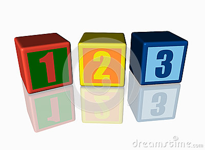 Colorful blocks with 123 numbers.