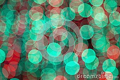 Colorful blurred bokeh lights