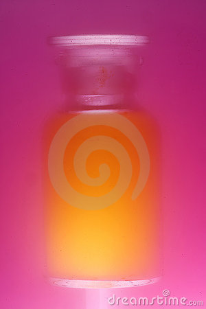 Colorful blurred bottle