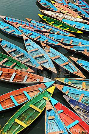 Free Colorful Boats Stock Images - 9843534