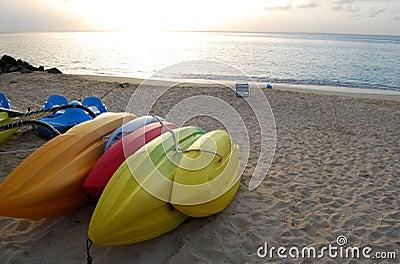 Colorful Boats at dusk