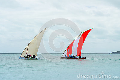 Colorful Boats sail regatta competition Editorial Photo