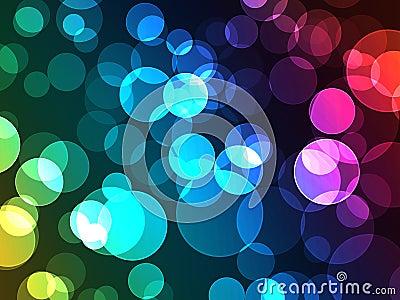 Colorful Bokeh Dot Lights Effect with De-Focus Glo