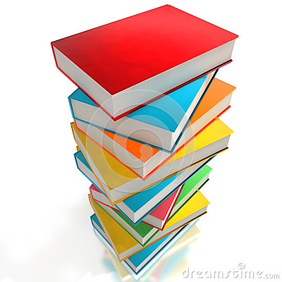 Free Colorful Books Stock Photography - 45369162