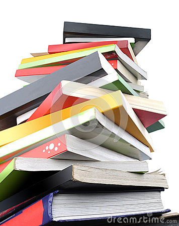 Free Colorful Books On White Background Royalty Free Stock Photos - 41264878