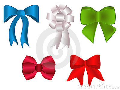 Colorful bows and rosette