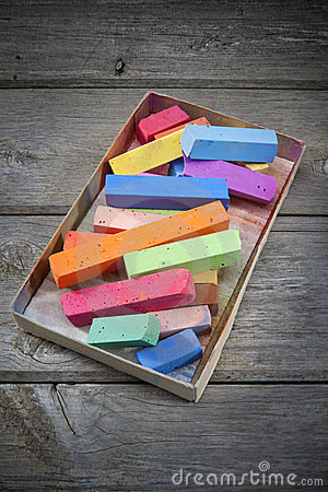Colorful Box Of Color Pastels