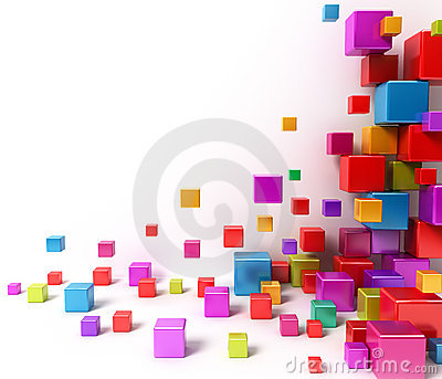 Colorful boxes. Abstract background