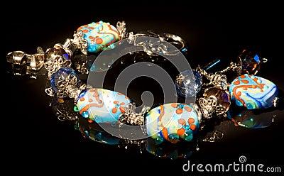 Colorful bracelet, light painting, XXL