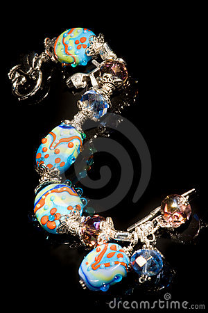 Colorful bracelet, light painting, XXL