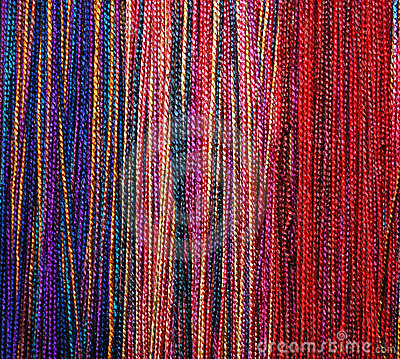 Colorful Braids of Wool Thread