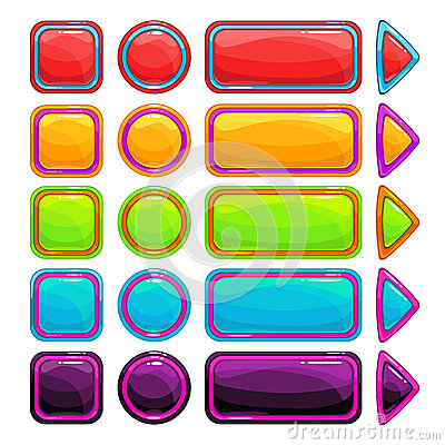 Free Colorful Bright Buttons Set Royalty Free Stock Photos - 68384488