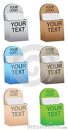 Colorful brochure/ flyer holders