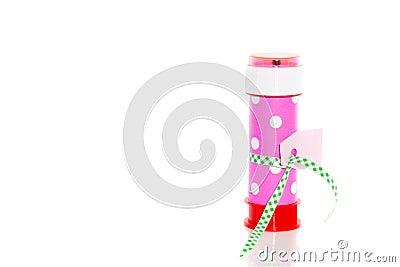 A colorful bubble blower