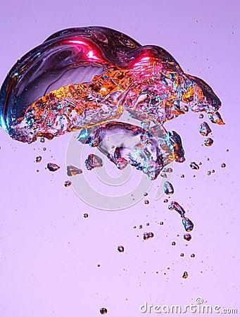 Colorful bubble in liquid
