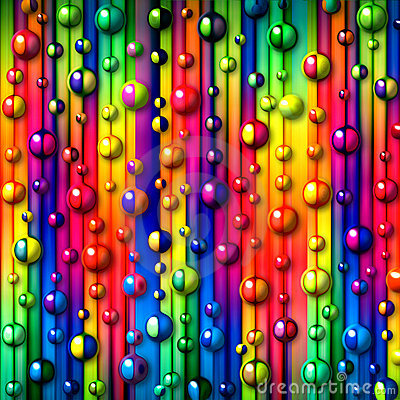 Colorful bubbles abstract background