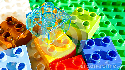 Colorful Building blocks - lego background Stock Photo