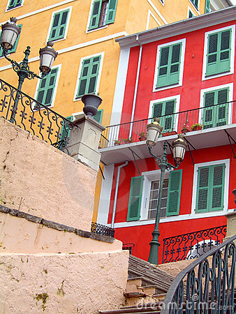 Colorful buildings Bastia Corsica France