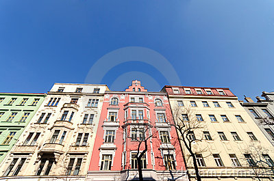 Colorful buildings in Prague